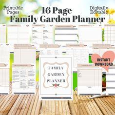Vegetable Garden Planner, Flower Garden Planner, Printable Planner, Printables, Garden Frame, Marigold Flower, Diy Projects For Beginners, Square Foot Gardening, Family Garden