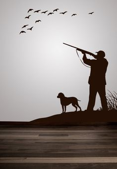 Duck Geese Pheasant Hunting Scene Decal by VinylWallAdornments, $32.00