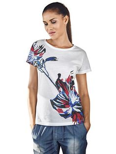 f3d54a61950a Majica HEINE  Majica  t shirt  women blouse  flower print  short sleeve   summer wear  summer clothes
