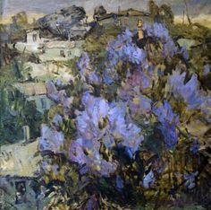 Igor Shipilin -сирень Garden Painting, Oil Painting Flowers, Painting & Drawing, Flower Paintings, Acrylic Paintings, Art Floral, Images D'art, Blooming Trees, Pin Art