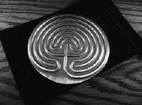 "4.75"" Cretan Tabletop Labyrinth Handcraafted Pewter (DT-CRE/R) on Etsy, $28.99"