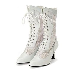 wedding cowboy boots for women | western wedding boots victorian leather and lace wedding boots