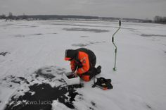 Podlodówka Lipie. Ice fishing in Poland