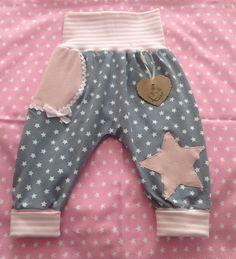 Hosen - Baby/Kinder Pumphose JERSEY STERN Wunschgröße - ein Designerstück von Fashionkids bei DaWanda