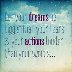 Dream en take action!