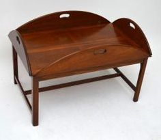 Large Mahogany Coffee Table With A Lift Off Butlers Tray Top It S Antique Georgian Style