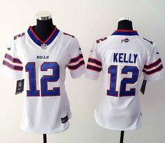 Women Nike Buffalo Bills #12 Jim Kelly white game Jersey $ 22.5