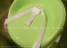 Finally! A way to clean the dreaded (and sometimes disgusting) booster and high chair straps. Via At Home in the Bronx