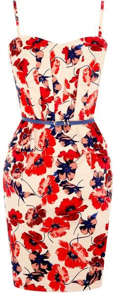 Just a lovely floral print dress. Absolutely wonderful. Pair it with stacked rings and a casual stiletto. I like the idea of a top bun with this as well.