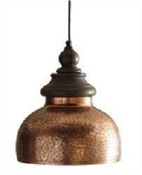 "Aged Coppertone Pendant Lamp ~ decorative hanging pendant lamp measures: 11"" x 11"" x 12.5""."