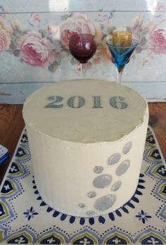 2016 cake at a New Year's party! See more party ideas at CatchMyParty.com!