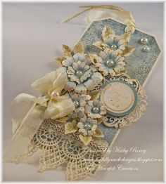 Vintage Floral Tag - Heartfelt Creations: Kathleen Roney.
