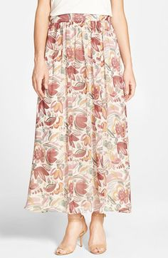 Two by Vince Camuto Floral Print Maxi Skirt available at #Nordstrom