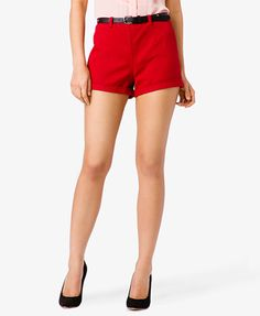 Heart Stud Denim Shorts | FOREVER21 - 2027672542