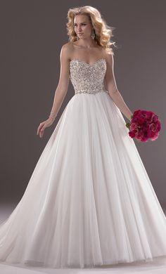 Sparkly wedding dress!