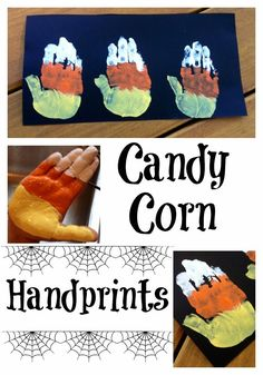 Candy Corn Handprint
