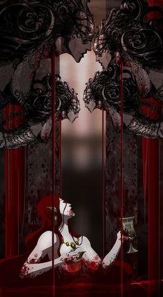 Fantasy art women vampire blood 17 ideas for 2019 Female Vampire, Gothic Vampire, Vampire Girls, Vampire Art, Medieval Fantasy, Dark Fantasy, Dark Art Paintings, Modern Vampires, Blood Art