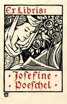 ≡ Bookplate Estate ≡ vintage ex libris labels︱artful book plates - by Walter Tiemann (c. 1900)