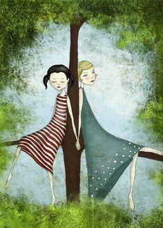 Cute illustration for a little girl's room.