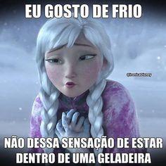Muito frio ☃ Frozen Memes, Disney Memes, Haha, Funny Memes, Mood, Instagram, Movie Posters, Fictional Characters, Samara