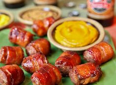 """What's better than the phrase """"wrapped in bacon?"""" These bite-sized appetizers are great for game day snacking."""