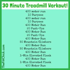 This 30 minute fat-blasting treadmill workout will easily work off any green bagels or corned beef you decide to indulge in today! Enjoy the day without gaining a pound! Be Fitt! 30 Minute Treadmill Workout, Hiit Workout At Home, Running On Treadmill, Boot Camp Workout, Track Workout, At Home Workouts, Butt Workouts, Cardio, Interval Workouts