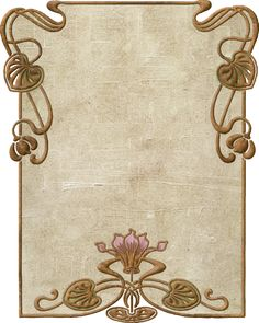 art nouveau frames and borders Fleurs Art Nouveau, Motifs Art Nouveau, Motif Art Deco, Bijoux Art Nouveau, Art Nouveau Flowers, Art Nouveau Pattern, Art Nouveau Design, Design Art, Tatuaje Art Nouveau