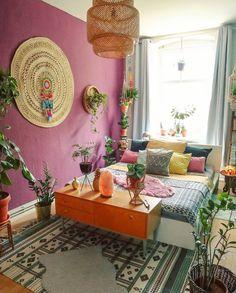 99 inspiring comfortable bedroom decor models with boho themes 9 Bohemian Bedroom Decor, Hippie Home Decor, Boho Room, Bohemian Interior, Home Living, Decoration, Room Inspiration, Interior Design, Decor Ideas