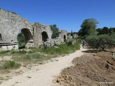 The Barbegal Aqueduct and Mill are the remains of a Roman mill and part of the aqueduct that ran from the Alpilles to Arles. In Roman times 16 water wheels powered the mill. Provence, France