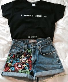 Marvel t shirt, marvel dress, disney outfits, outfits for teens, summer outfits Fashion Mode, Teen Fashion, Fashion Outfits, Womens Fashion, Marvel Fashion, Fashion Pics, Ootd Fashion, Cute Casual Outfits, Summer Outfits