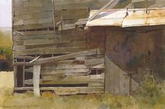 old wooden shack paintings - Soulful watercolors by Dean Mitchell Watercolor Architecture, Watercolor Landscape, Watercolor Paintings, Watercolours, Oil Paintings, Dean Mitchell, Wooden Shack, Guache, Watercolor Texture