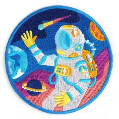 Outer Space Iron on Patch ($6) ❤ liked on Polyvore featuring filler and patches
