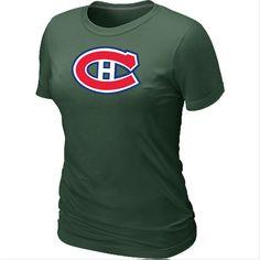 NHL Montreal Canadiens Big & Tall Women's Logo T-Shirt - D.Green [Montreal Canadiens T Shirts 026] - $12.95 : Cheap Hockey Jerseys