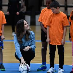 Play ball! Sofia paid a visit to Karlstad's youth sports facility, Fritidsbanken.<br><br>Photo: © PA