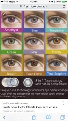 Makeup Advice – Your guide to perfect makeup Natural Makeup Remover, Best Natural Makeup, Natural Eyes, Makeup Tutorial Eyeliner, Eye Makeup, Beauty Makeup, Contact Lenses For Brown Eyes, Eye Color Chart, Prescription Colored Contacts