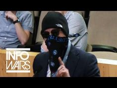 Masked Man Confronts Austin City Council Over Gunmen Outside - YouTube