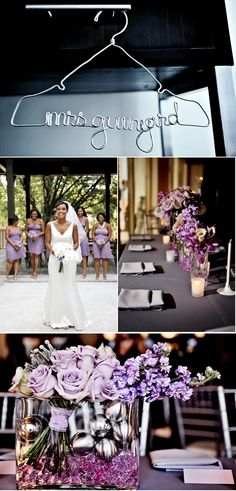 awesome way to make arrangements so that the bouquets can be used as centerpieces