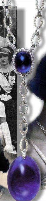 Queen Elisabeth of Greece Sapphires Cartier Sautoir