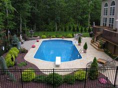 Backyard Pool Landscaping Fence 20 Ideas For 2019 backyard landscaping., landscaping fence Backyard Pool Landscaping Fence 20 Ideas For 2019 Backyard Pool Landscaping, Pool Fence, Swimming Pools Backyard, Backyard Pergola, Garden Pool, Landscaping Ideas, Pergola Shade, Garage Pergola, Lap Pools