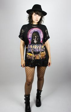 Cold Shoulders Bleached Distressed 90s Metal Shirt Grunge Trash Punk Music Unique Shittyfucky YAayi