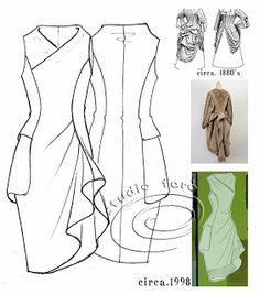 Use your Fitted Dress Block! well-suited: #PatternPuzzle - The Pocket Drape  #patternmaking