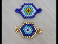 Bead Loom Patterns, Bracelet Patterns, Beading Patterns, Diy Fabric Jewellery, Beaded Jewelry, Beaded Crafts, Evil Eye Bracelet, Rainbow Shop, Beaded Brooch
