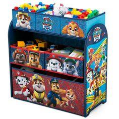 Paw Patrol Kids Multi-Bin Toy Organizer - Nick Jr., Multi-Colored