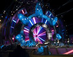 AFP 2017 stage design on Behance Concert Stage Design, Stage Set Design, Theatre Stage, Maxon Cinema 4d, Stage Decorations, Stage Lighting, Online Portfolio, Visual Effects, Autocad