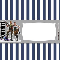 invitaciones fortnite cumpleanos Birthday Party Themes, Birthday Invitations, Candy Bar Wrappers, 13th Birthday, Printing Labels, Treat Bags, Shower Party, Party Printables, Barcelona