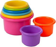 Amazon.com: The First Years Stack Up Cup Toys: Baby Baby Bath Seat, Baby Bath Toys, Best Baby Toys, Stacking Toys, Developmental Toys, Baby Development, Finding Nemo, Classic Toys, Toddler Toys