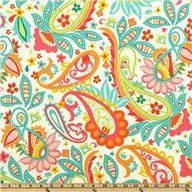 paisley - I remember hating paisley when I was young(er) and my mom and sister having an argument over a paisley skirt.  Funny how much I like it (modern versions) now!