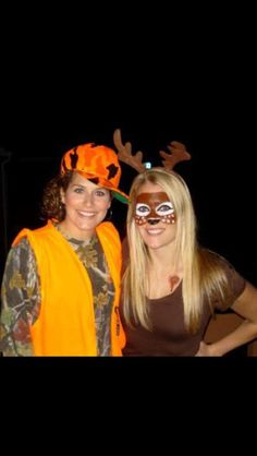 halloween costume idea. Hunter and Deer.