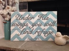 Under His wings you will find refuge Psalm 91:4 Hand by MyYes on Etsy