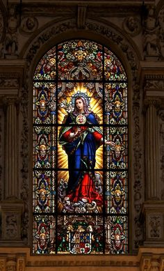 Immaculate Heart of Virgin Mary, choir of Cathedral of Cordoba, Spain